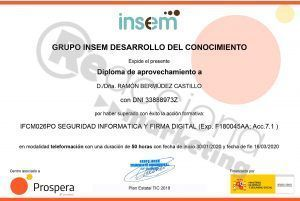 Acreditación profesional en seguridad informática y firma digital. Reacciona Marketing