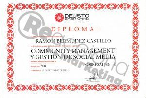 acreditación en community management y social media. Reacciona Marketing