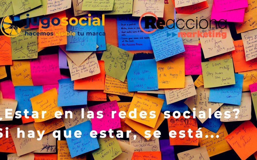 Estar en las redes sociales es una buena opción para tu negocio