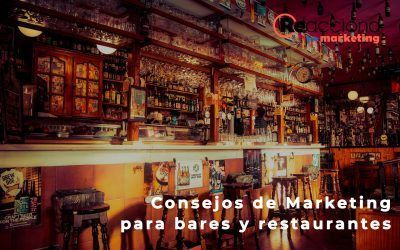 Marketing para bares y restaurantes. Consejos que ayudarán a tu negocio